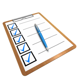 A checklist to prep for the GMAT is a great idea. A blank one, though, not so much...