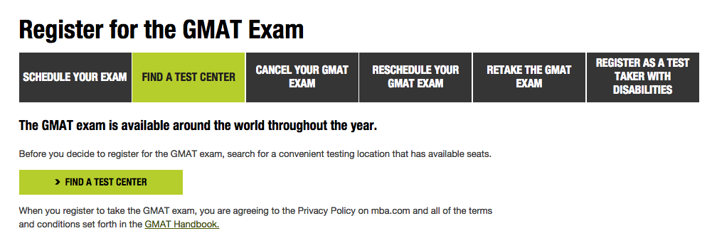 find a gmat test center