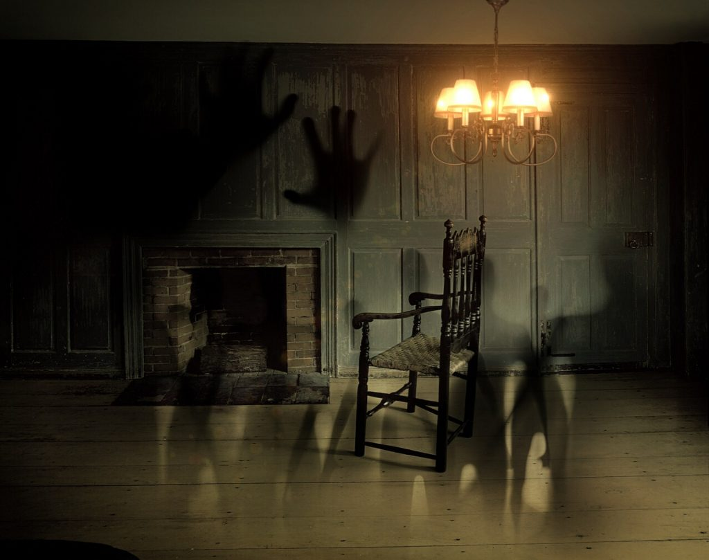 I insist that Harry IS there—right there in that creepy old living room...
