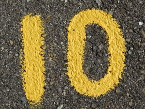 The number 10 is easy to work with, as we use a base 10 math system.