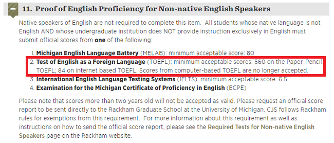 Toefl requirements for colleges what score do you need bodyscreenshotjapanesematoeflrequirements fandeluxe Images