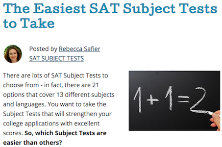 The Easiest SAT Subject Tests